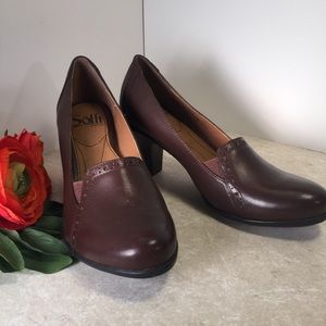 Sofft Brown leather comfortable heels 6M